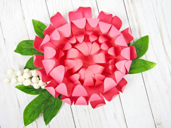 Love chrysanthemums and Party Decor – DIY Chrysanthemum Flower Paper Craft