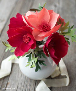 Make a lovely bouquet of crepe paper cosmos flowers for spring