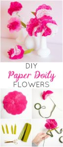 Creative and Bright Paper Doily Flowers Step by Step Tutorial