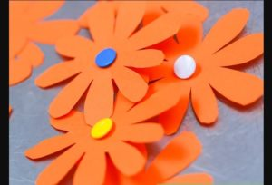 Realistic Looking Construction Paper Flower Crafts