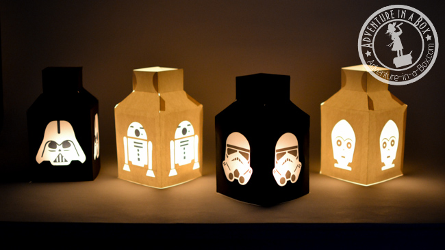 Star Wars Paper Lanterns – Construction paper kids crafts