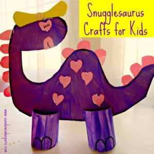 DIY Dinosaur Crafts with Cereal Box, Sharpie and Paper Roll