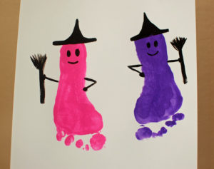 Trick or Treat Smell my feet Witch- funny n cute paint your toddler's feet and stamp