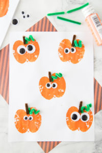 Favorite Fall Season Apple Stamping Pumpkin Craft for Preschoolers