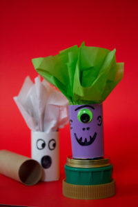 Make Halloween Candy Holders with Paper Tubes Marker and Wrapping Paper