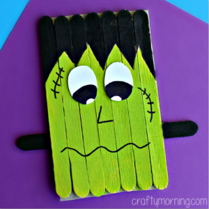 Popsicle Stick Frankenstein Craft for Kids Easy to make and Paint