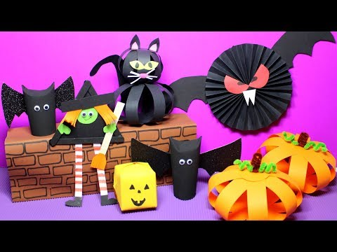 Totally Adorable Easy Halloween Crafts for Kids – Video Tutorial