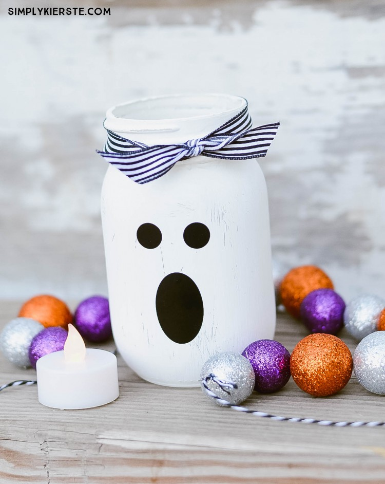 Paint with Your Kids to Make Halloween Mason Jar Ghost Lantern – Paint, Stickers, Marker,  ...
