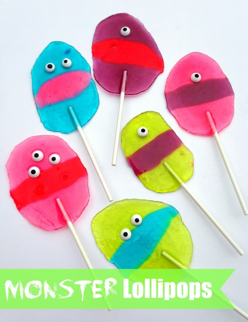 Create Edible Halloween Monster Lollipops – for Trick or Treat and Halloween Candy for Cla ...