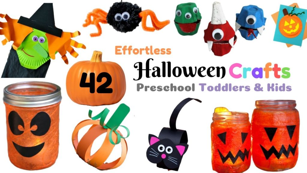 67 Spooky and Whimsical Halloween Crafts for Toddlers and Preschool Kids