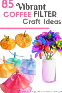 85 Vibrant Coffee Filter Craft Ideas