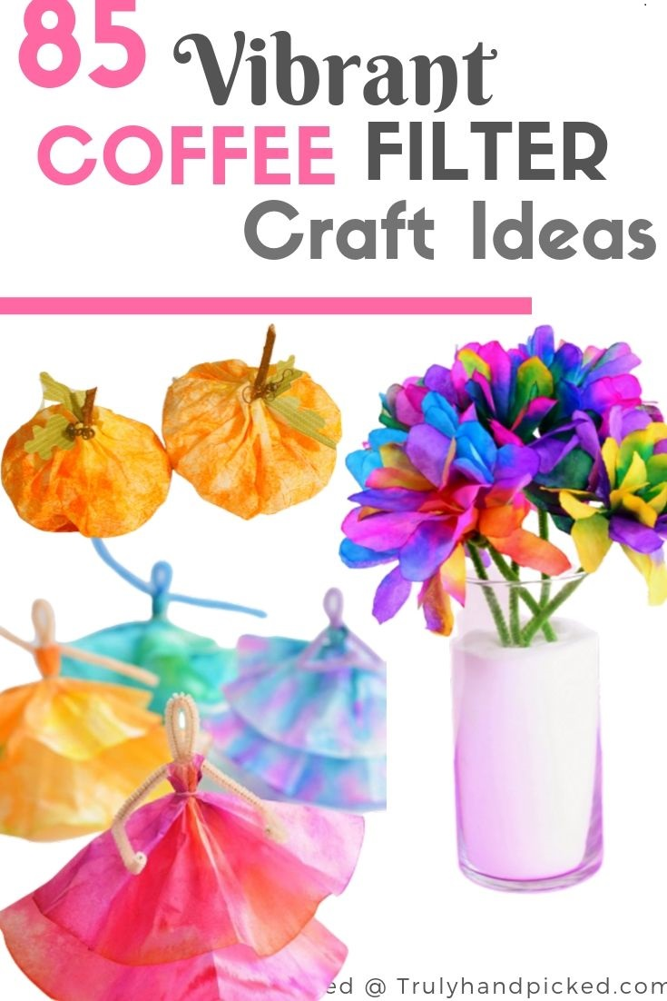 85 Vibrant Coffee Filter Craft Ideas for Kids