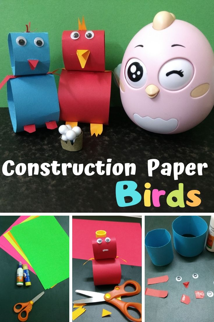 DIY Construction Paper Crafts – Birds (12 Step Pictures)
