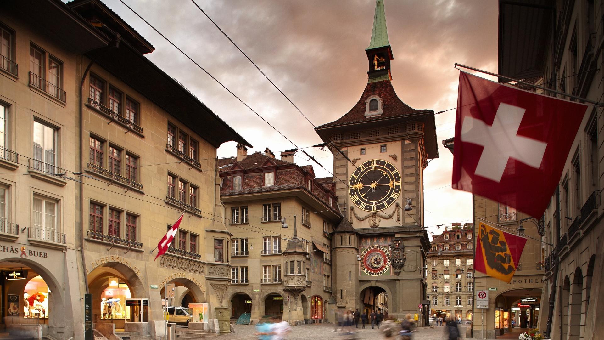 Berns Clock Tower Iconic Landmark Zytglogge - Bern Switzerland Attractions