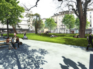 Tiny Clean Park to Rest in between – Zurich Switzerland Places to visit